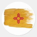 Bandera de New México Etiqueta Redonda