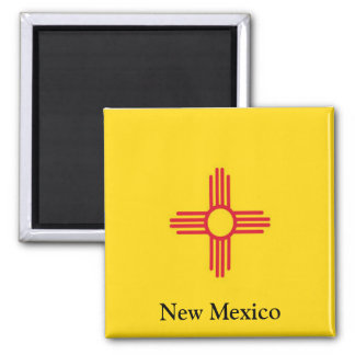 Bandera de New México Imán Cuadrado