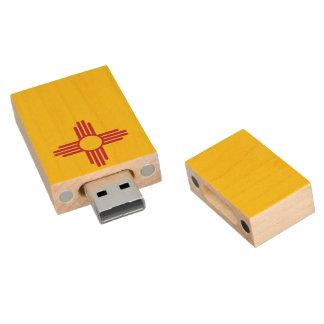 Bandera de New México Memoria USB 2.0 De Madera