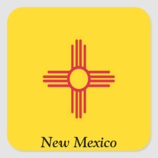 Bandera de New México Pegatina Cuadradas Personalizada
