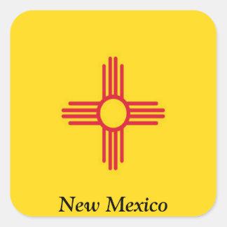 Bandera de New México Pegatina Cuadrada