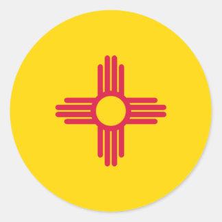 Bandera de New México Pegatina Redonda