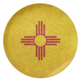 Bandera de New México Plato Para Fiesta