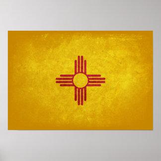 Bandera de New México Póster