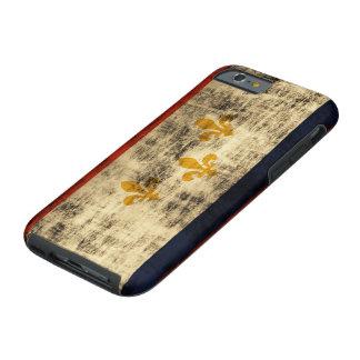 Bandera de New Orleans del Grunge del vintage Funda Resistente iPhone 6