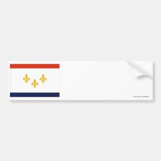 Bandera de New Orleans Etiqueta De Parachoque
