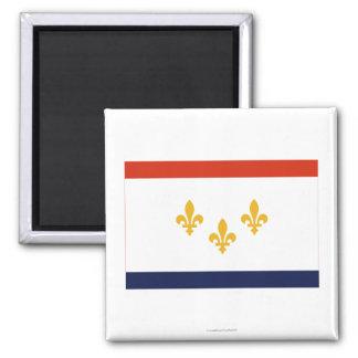 Bandera de New Orleans Imán Cuadrado