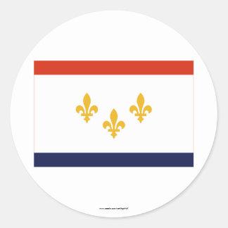 Bandera de New Orleans Pegatina Redonda