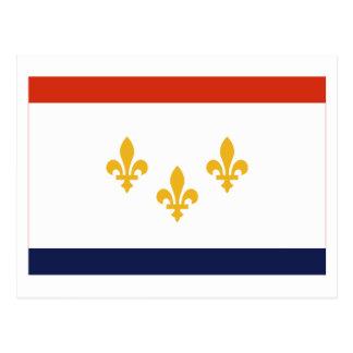 Bandera de New Orleans Tarjetas Postales