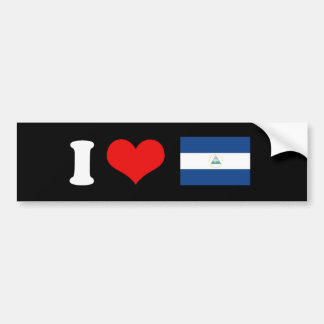Bandera de Nicaragua Pegatina De Parachoque