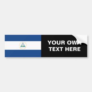 Bandera de Nicaragua Etiqueta De Parachoque