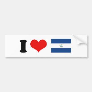 Bandera de Nicaragua Pegatina Para Auto