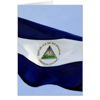 bandera de nicaragua card