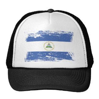 Bandera de Nicaragua del Grunge Gorro De Camionero