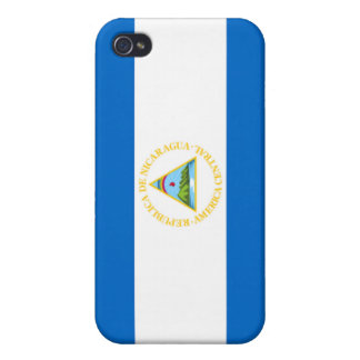 Bandera de Nicaragua iPhone 4/4S Carcasa