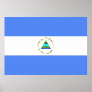 Bandera de Nicaragua Posters