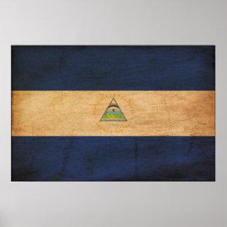 Bandera de Nicaragua Póster