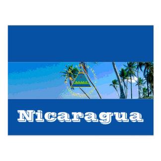 Bandera de Nicaragua Tarjeta Postal