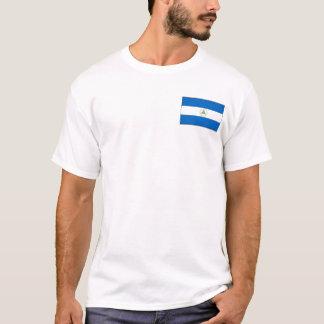 Bandera de Nicaragua y camiseta del mapa
