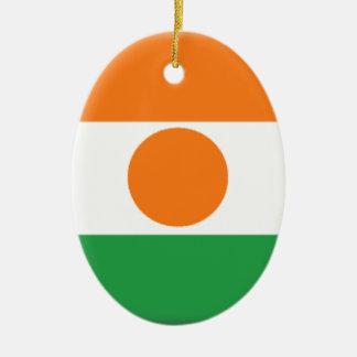 Bandera de Niger Adorno Ovalado De Cerámica