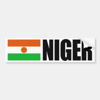 Bandera de Niger Etiqueta De Parachoque