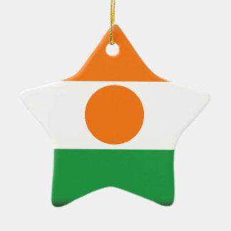 Bandera de Niger Adorno De Cerámica En Forma De Estrella
