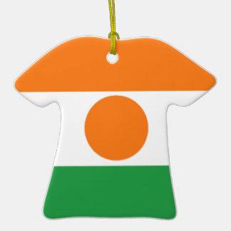 Bandera de Niger Adorno De Cerámica En Forma De Playera