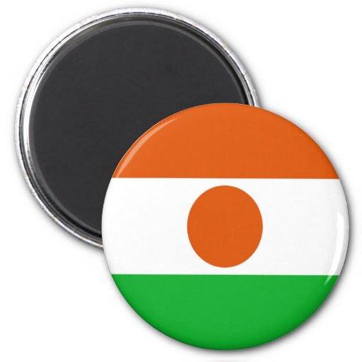 Bandera de Niger Imán Redondo 5 Cm