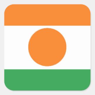 Bandera de Niger Pegatina Cuadrada