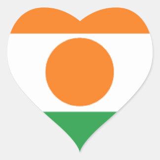Bandera de Niger Pegatina En Forma De Corazón