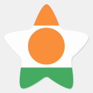 Bandera de Niger Pegatina En Forma De Estrella