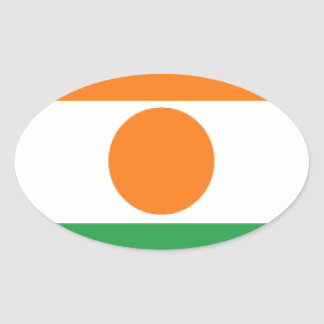 Bandera de Niger Pegatina Ovalada