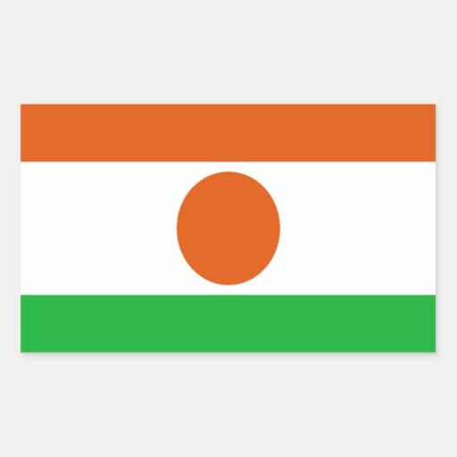 Bandera de Niger Pegatina Rectangular