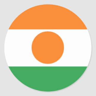 Bandera de Niger Pegatina Redonda