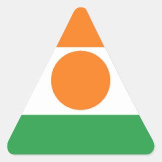 Bandera de Niger Pegatina Triangular