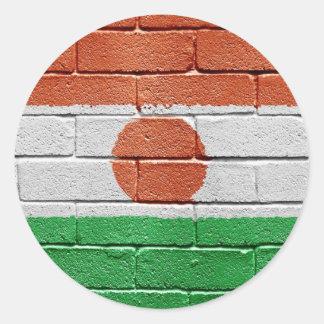 Bandera de Niger Pegatinas Redondas
