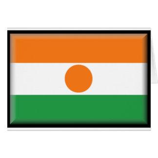 Bandera de Niger Tarjeta De Felicitación