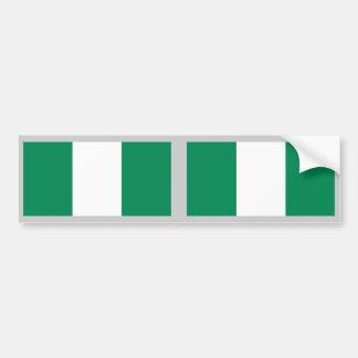 Bandera de Nigeria Pegatina Para Auto
