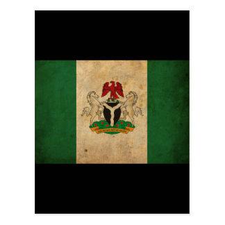 Bandera de Nigeria del vintage Postales