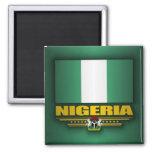 Bandera de Nigeria Imán Cuadrado