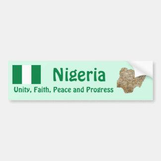 Bandera de Nigeria + Pegatina para el parachoques  Pegatina Para Auto