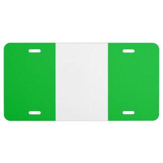 Bandera de Nigeria Placa De Matrícula