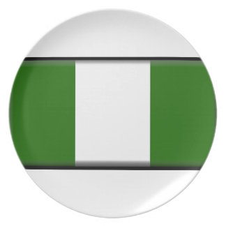 Bandera de Nigeria Plato De Cena