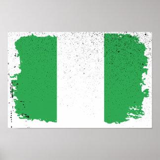Bandera de Nigeria Póster
