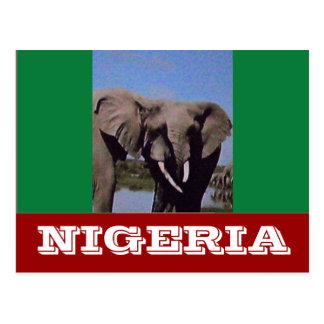 Bandera de Nigeria Postales