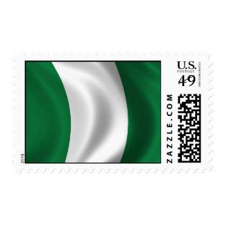 Bandera de Nigeria Timbres Postales