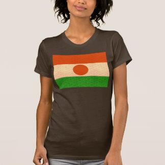 Bandera de Nigerien del modelo del vintage Camiseta