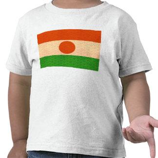Bandera de Nigerien del modelo del vintage Camisetas