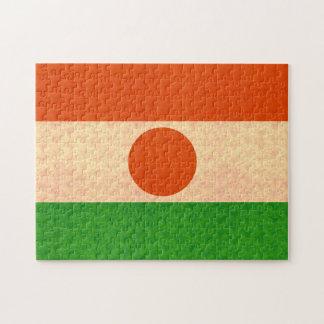 Bandera de Nigerien del modelo del vintage Rompecabezas Con Fotos