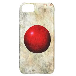 Bandera de Nihon de la caja patriótica del teléfon Funda Para iPhone 5C
